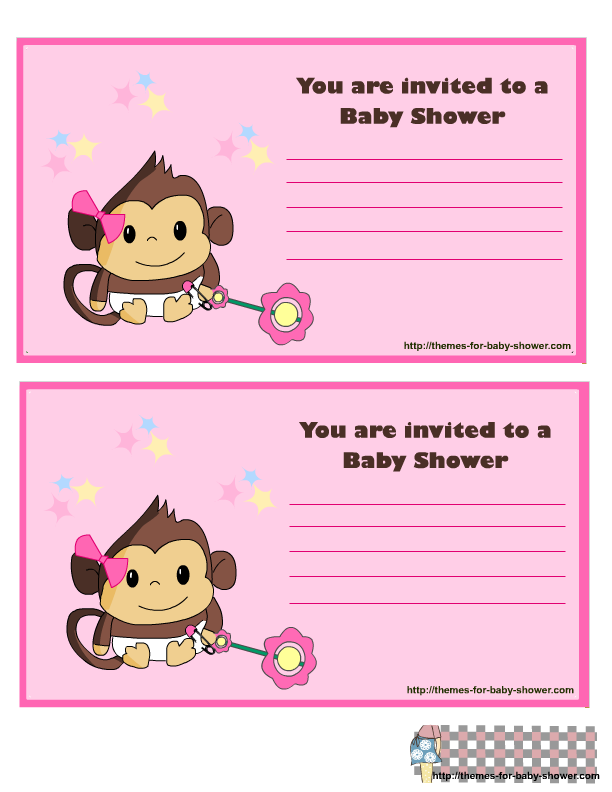 Baby Shower Kit for Baby Girls Invitations, Cards.