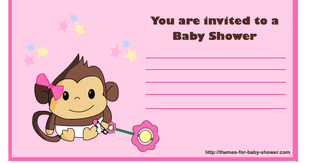 free printable monkey baby shower kit for baby girls oh my baby