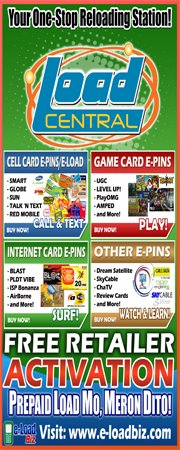 Loadcentral Retailer Free Activation at e-LoadBiz.com
