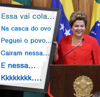 Dilma Rousseff e governo do PT engana e mente muito pro povo