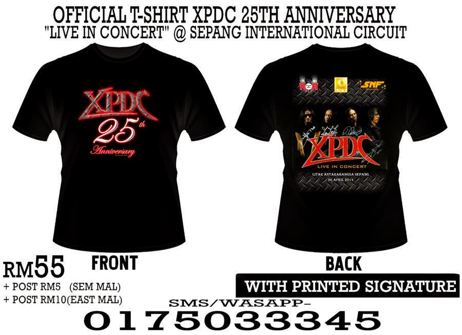 Official T Shirt XPDC 25th Anniversary Live In Concert 2014