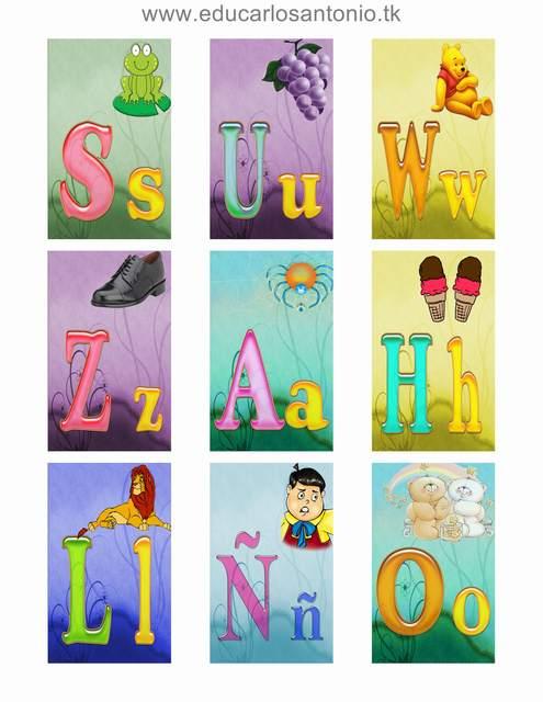 Lotería del abecedario para imprimir - Imagui