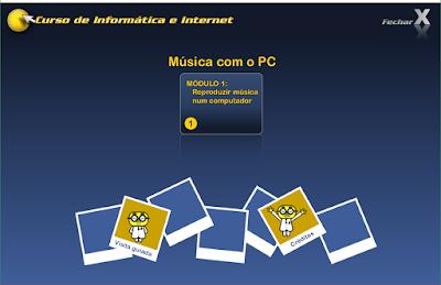 CURSO DE INFORMÁTICA E INTERNET - MÚSICA COM O PC