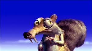 Scrat looking to hide his acorn in Ice Age 2002 disneyjuniorblog.blogspot.com