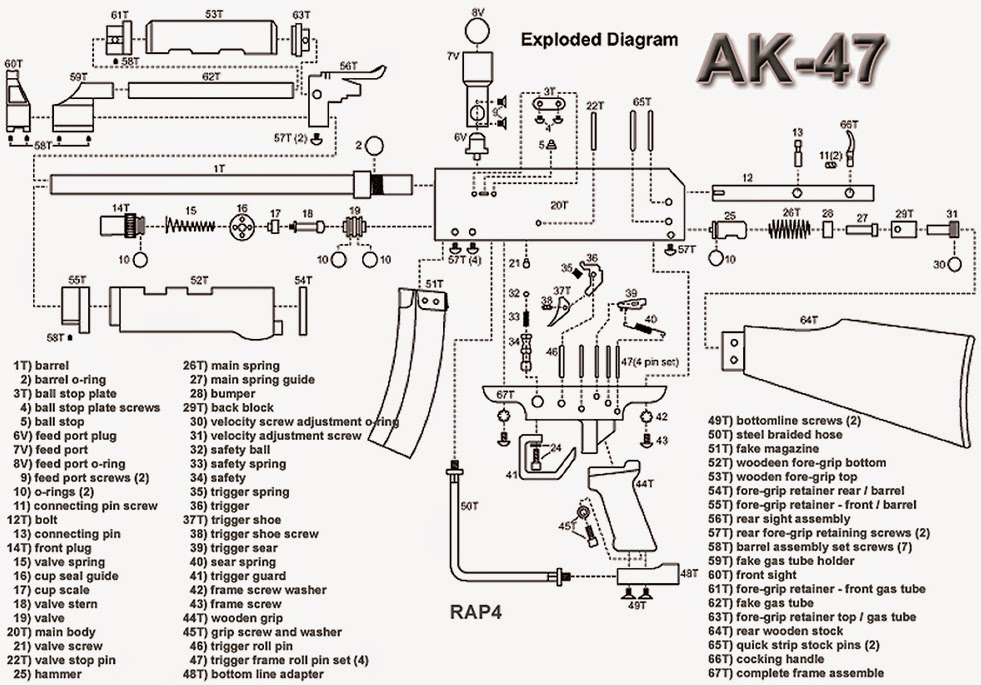 ak 47 cutaway diagram  ak  free engine image for user