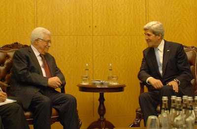John Kerry with Abbas