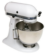 En vit Kitchen Aid...