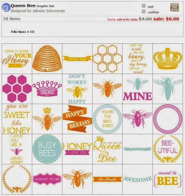 Queen Bee graphic set