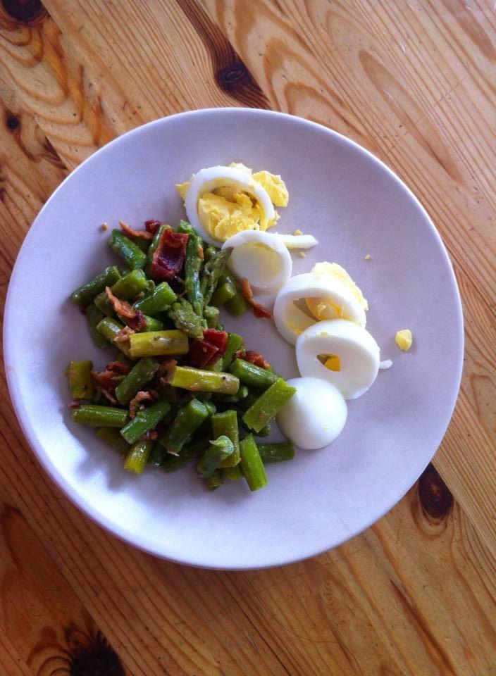 Embracing Fitness: Asparagus, Egg & Bacon Salad with Dijon Vinaigrette ...