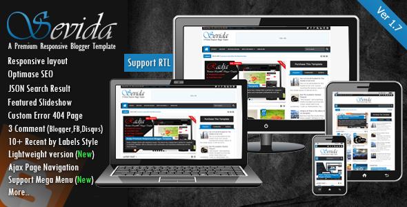 Sevida v1.7 - Responsive Magazine Blogger Template