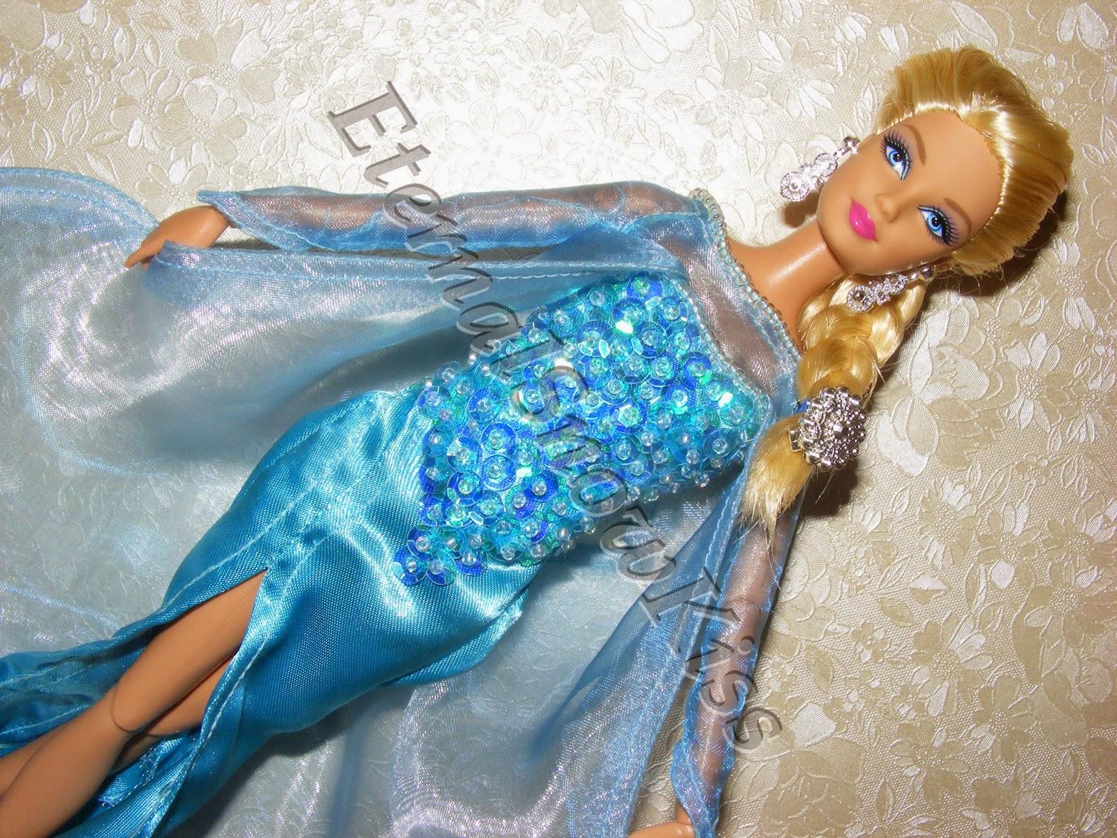 How to make  Frozen  Elsa dress for dolls & EternalSnowKiss: How to make