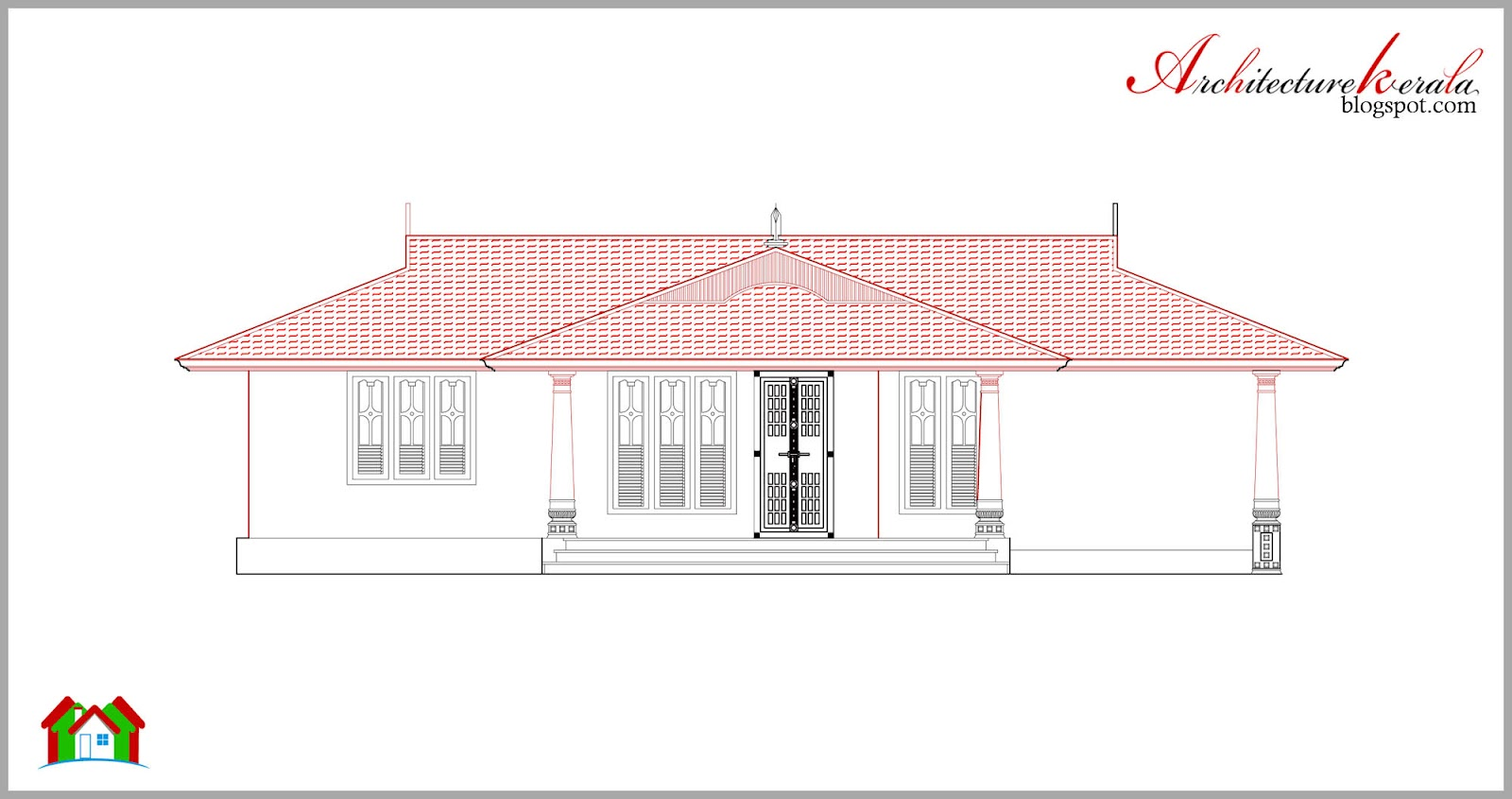 House plan and elevation in kerala style