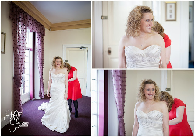 bride getting ready, kirkley hall, kirkley hall wedding, northumberland wedding, kirkley hall wedding photos, northumberland wedding venue, wedding halls north east, kirkley college wedding,  winter wedding, katie byram photography, floral quarter, red rose bouquet, thistle wedding,
