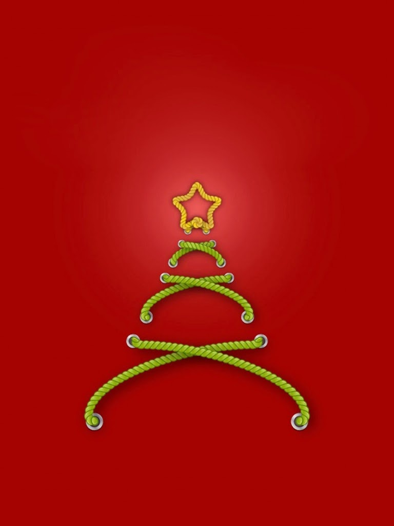 Sched Christmas Tree Red Background