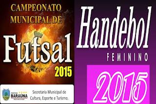 Confira os resultados dos últimos jogos dos Campeonatos de Futsal e Handebol de Baraúna
