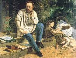 Proudhon e seus filhos, por Gustave Courbet (1865)