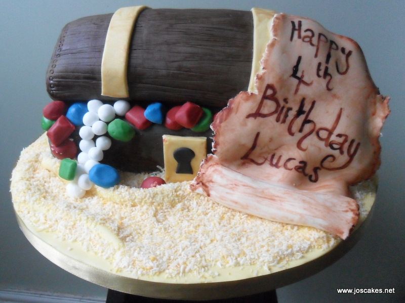 Jos Cakes Pirate Treasure Chest Birthday Cake