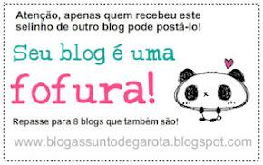 """Selo """"Fofura de Blog"""""""