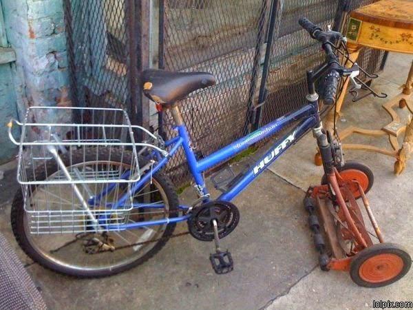 vélo tondeuse