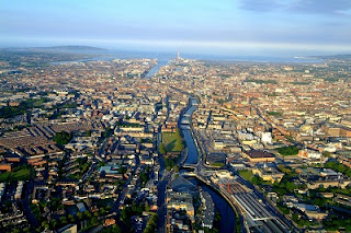 Aerial view of Dublin City...but where to start?