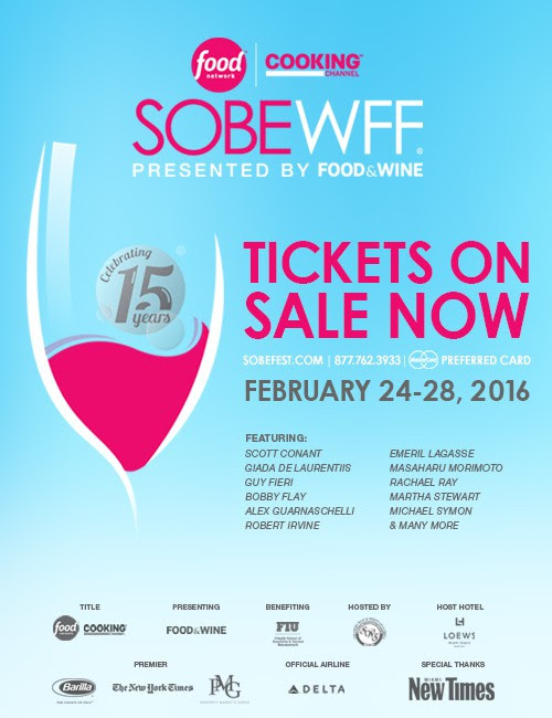 SOBEWFF 2016: Tickets On Sale Now
