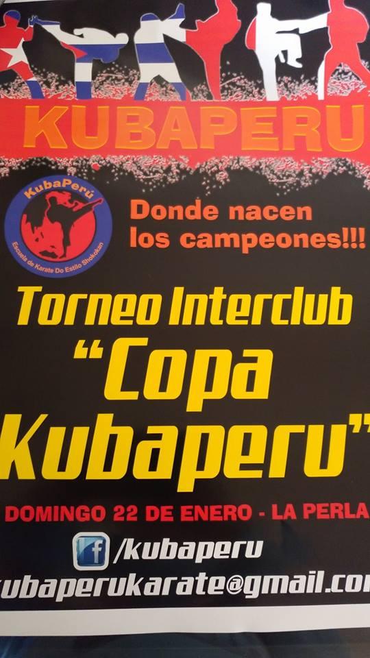"""TORNEO INTERCLUB DE KARATE """"Copa KubaPeru""""  Callao-Perù"""