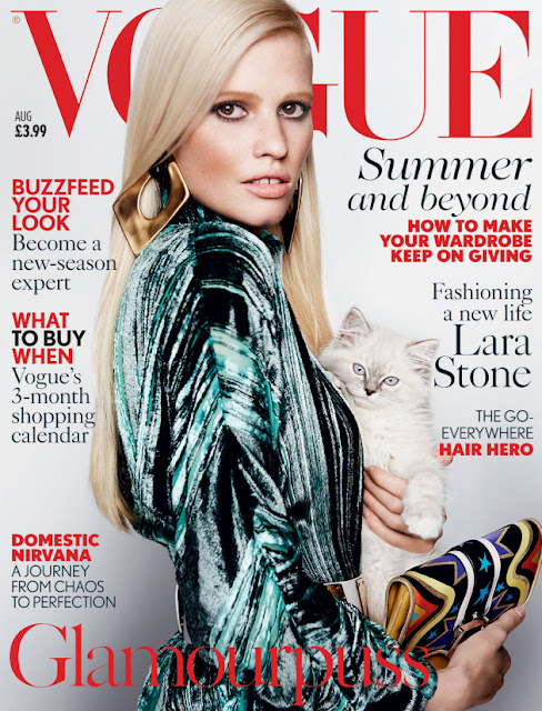 Model @ Lara Stone By Mario Testino For Vogue Uk, August 2015