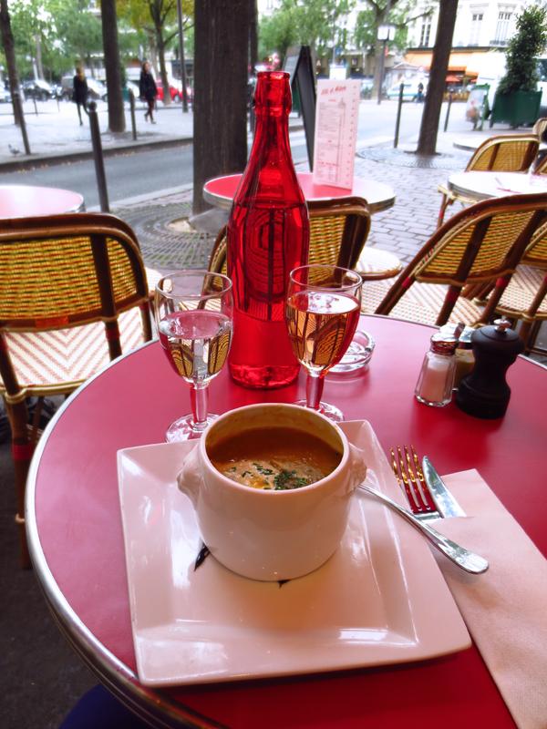 Paris soppa vin