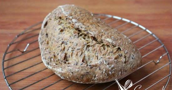 Pão de espelta e linhaça (fermentação natural)
