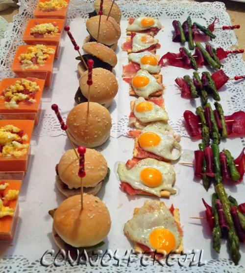 Pinchos variados para catering o buffet con ajo y perejil for Aperitivos para barbacoa