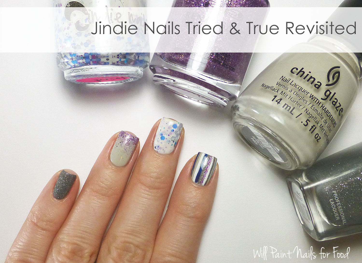 Jindie Nails Tried & True mix and match nail art