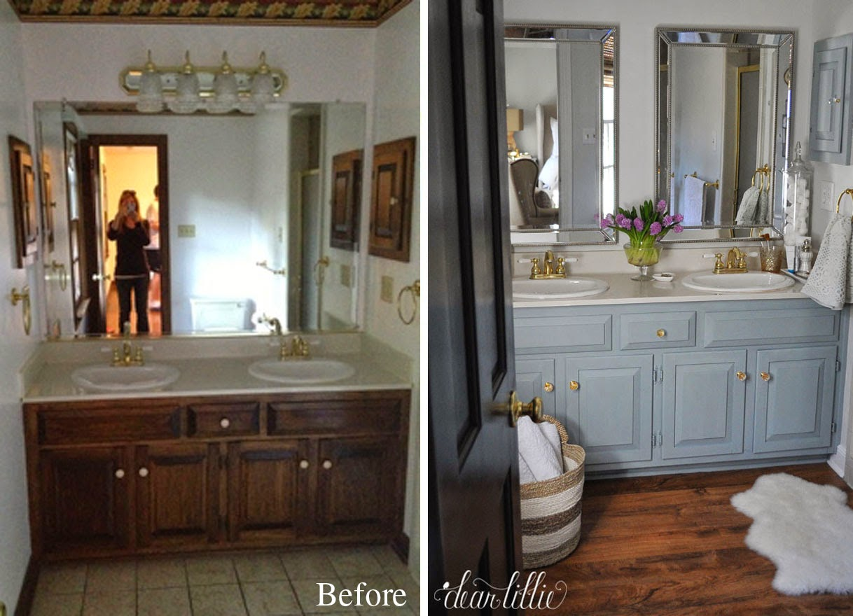 Master Bathroom Before And After dear lillie: our inexpensive mini makeover on our master bathroom
