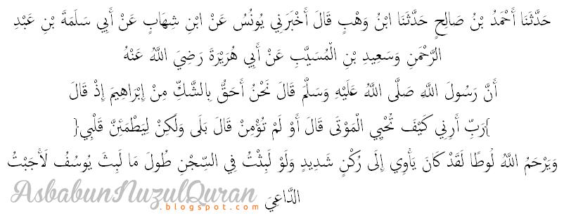 Qur'an Surat al Baqarah ayat 260