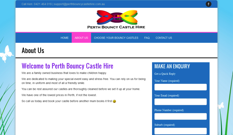 leading provider of bouncy castle hire services in Perth