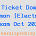 Tradesman [Electronics] Exam 2014 Hall Ticket