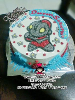 Kue Tart Buttercream Ultraman Daerah Surabaya - Sidoarjo