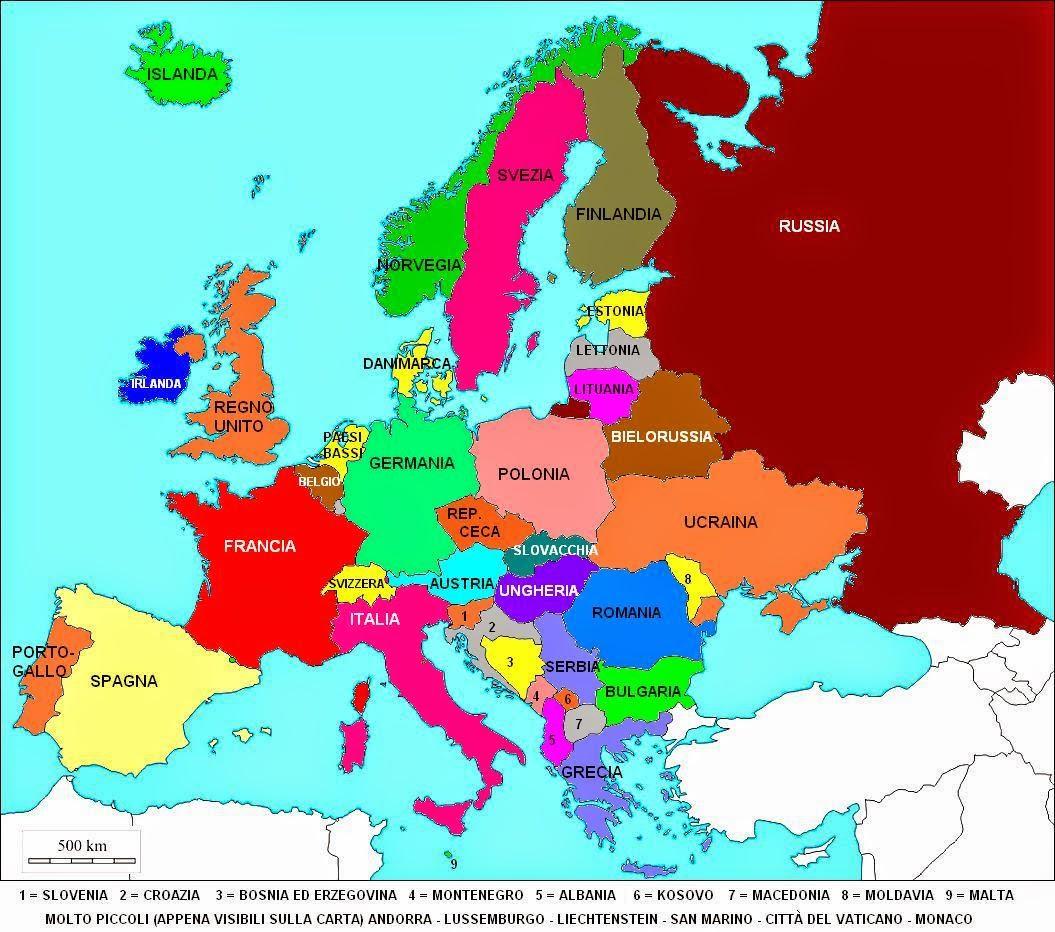 Cartina europea cipro