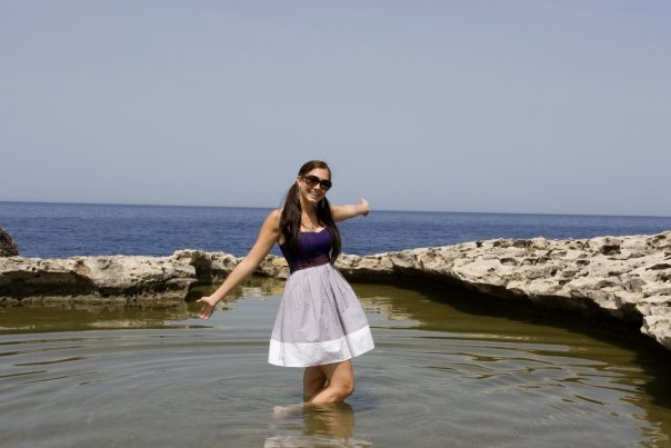 Amy West in Malta