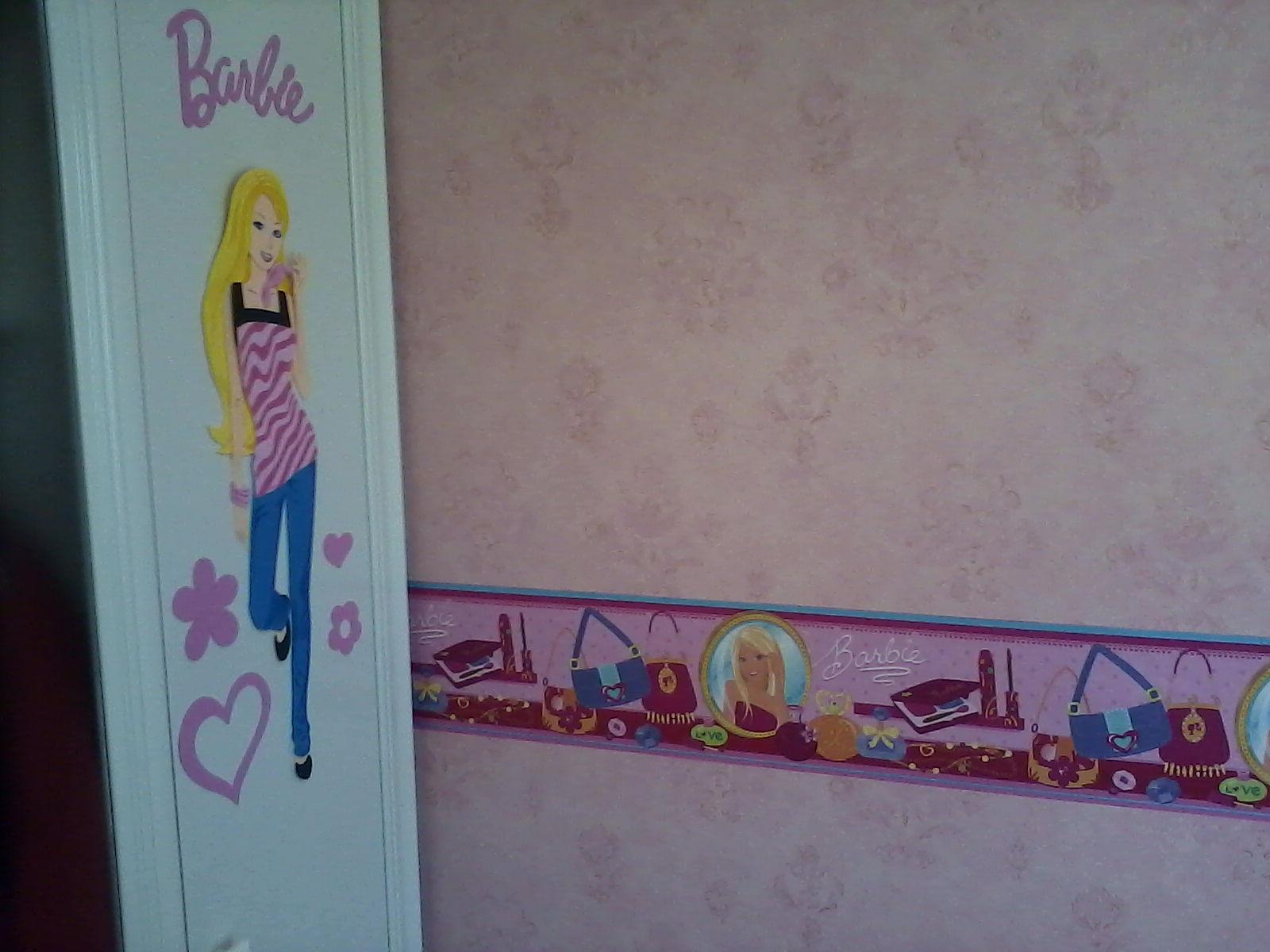 Quarto Decorado Infantil Da Barbie ~   CURITIBA QUARTO MENINAS  PAPEL DE PAREDE BARBIE SEMPRE ELA