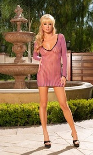 long_sleeve_pink_mini_dress_easter_lingerie