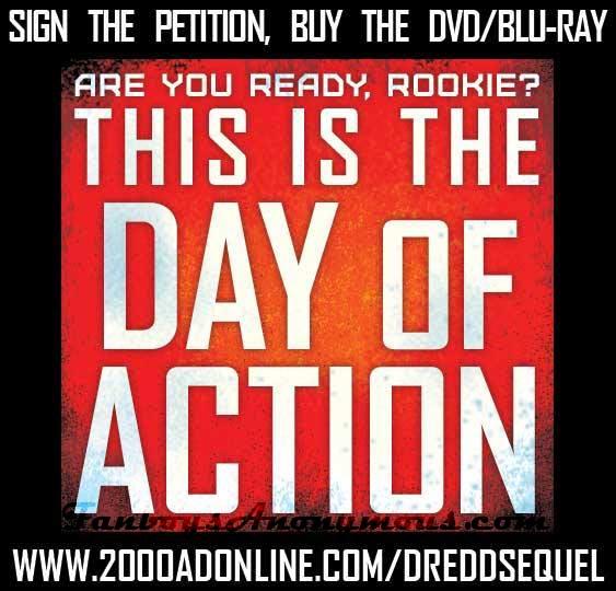 Judge dredd comic book movie adaption dredd campaign for a sequel