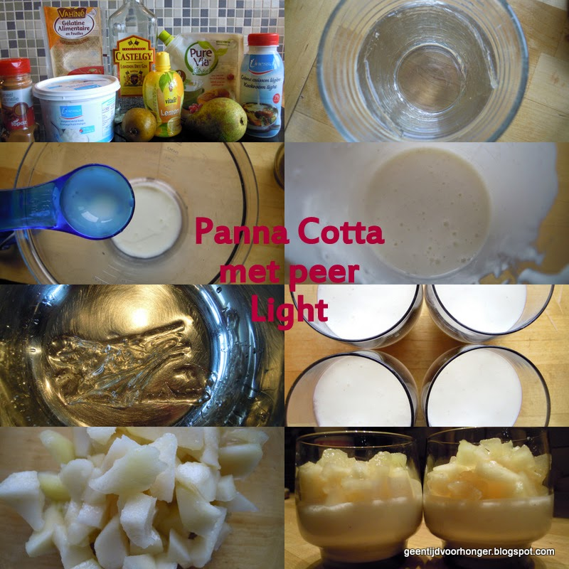 Recept voor panna cotta met peer #light #ww #telvrij