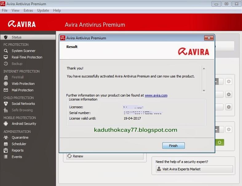 Anti Virus Avira premium 2013