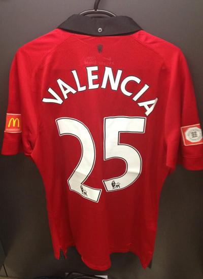 Antonio Valencia No.25 Jersey 2013-2014