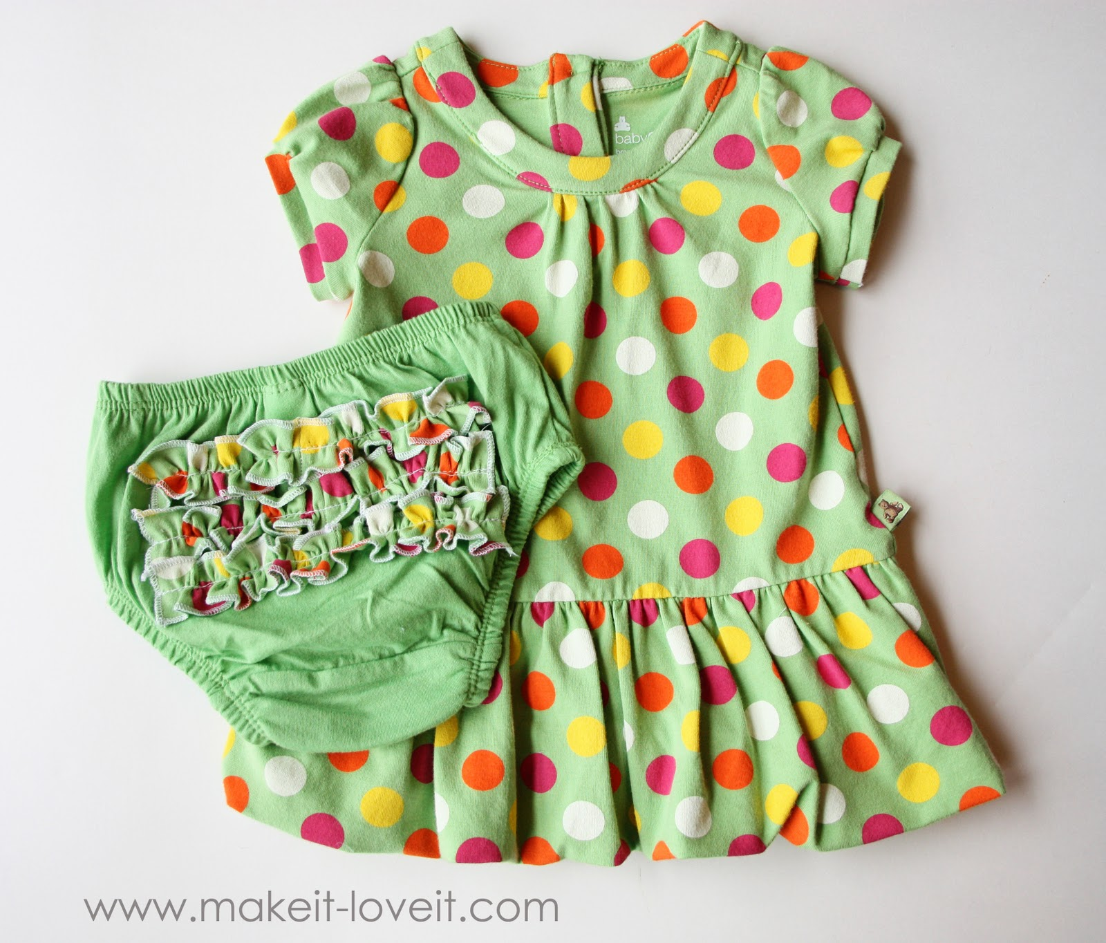 Altering Baby Clothes Long Sleeves to Short Plus Ruffles