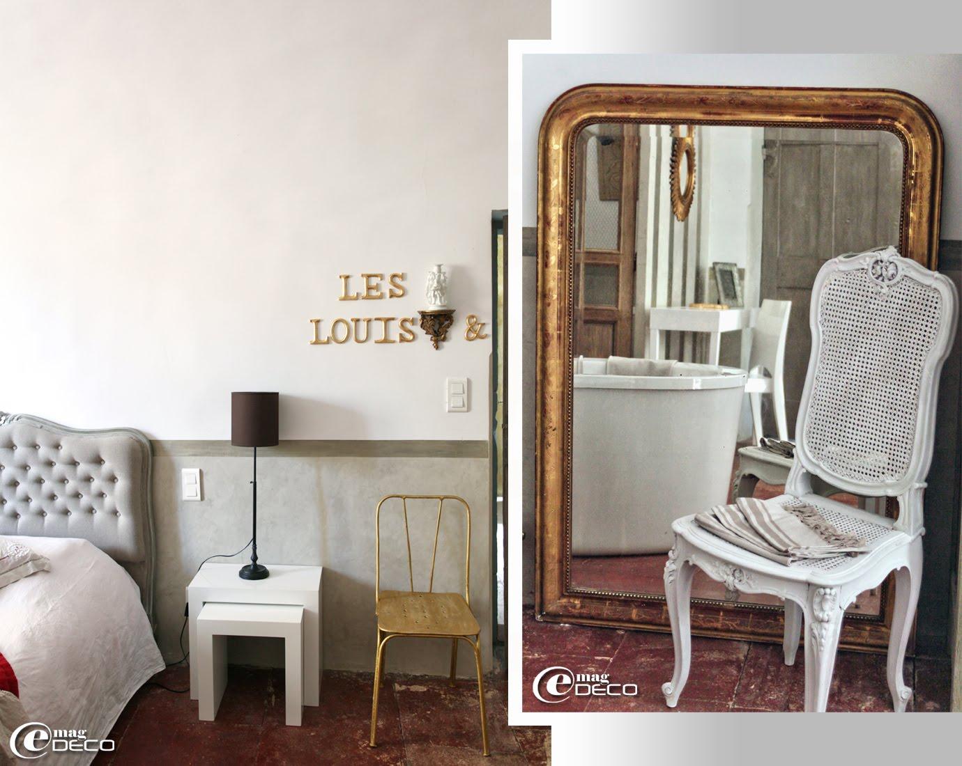 Chambre Les Louis, maison d'hôtes de charme 'Les Nomades Baroques' à Barjac