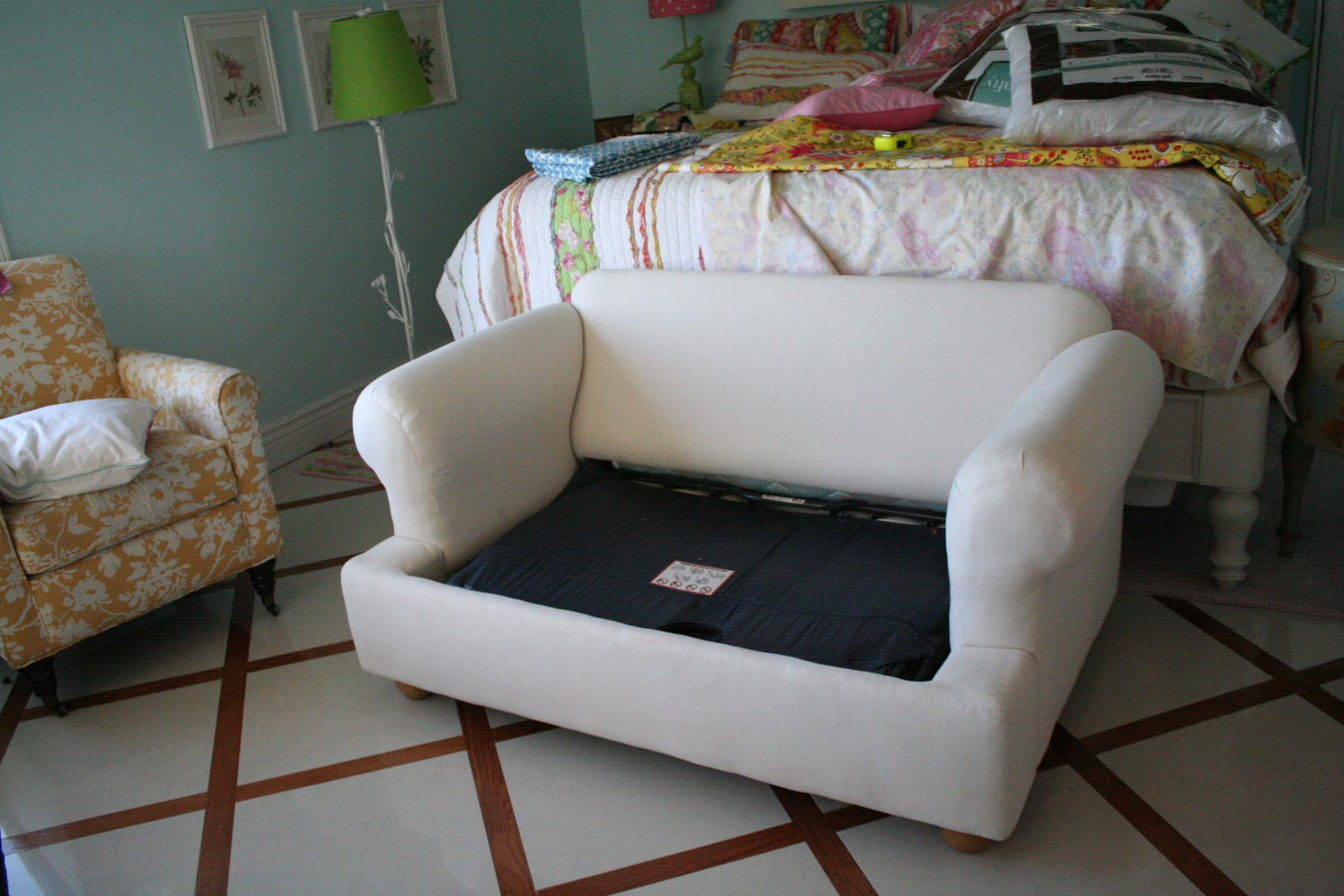 Excellent Custom Slipcovers By Shelley Green Lattice Loveseat Complete Home Design Collection Barbaintelli Responsecom
