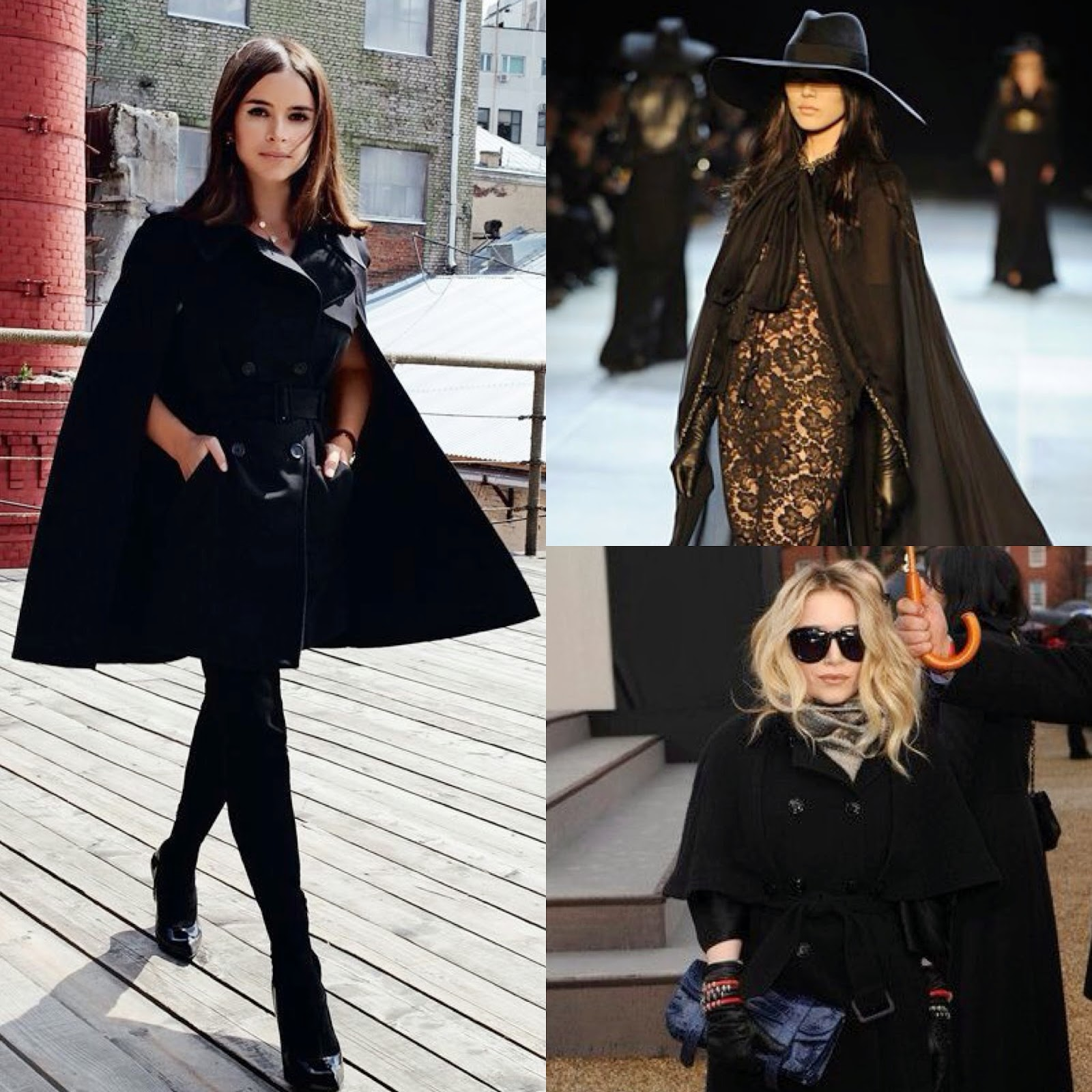 Inpsiration, Fall Fashion, Inpiration Black Cape, Black Cape, Black Cape Coat, Inspiration Black Cape Coat, Cape, Cape Coat, Fall Inpiration,