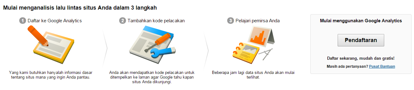 Mulai Pendaftaran Google Analytics
