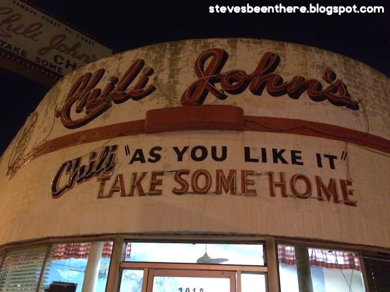 Chili John's in Burbank, CA as seen on Diners Drive-Ins and Dives